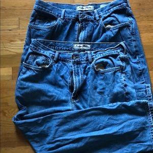 Tommy Bahama Indigo Palms Jeans 36x32 2 pair